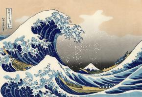 36 Ansichten des Berges Fuji von Hokusai (1760–1849)